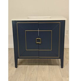 Newmarket Dark Blue Vanity & Top