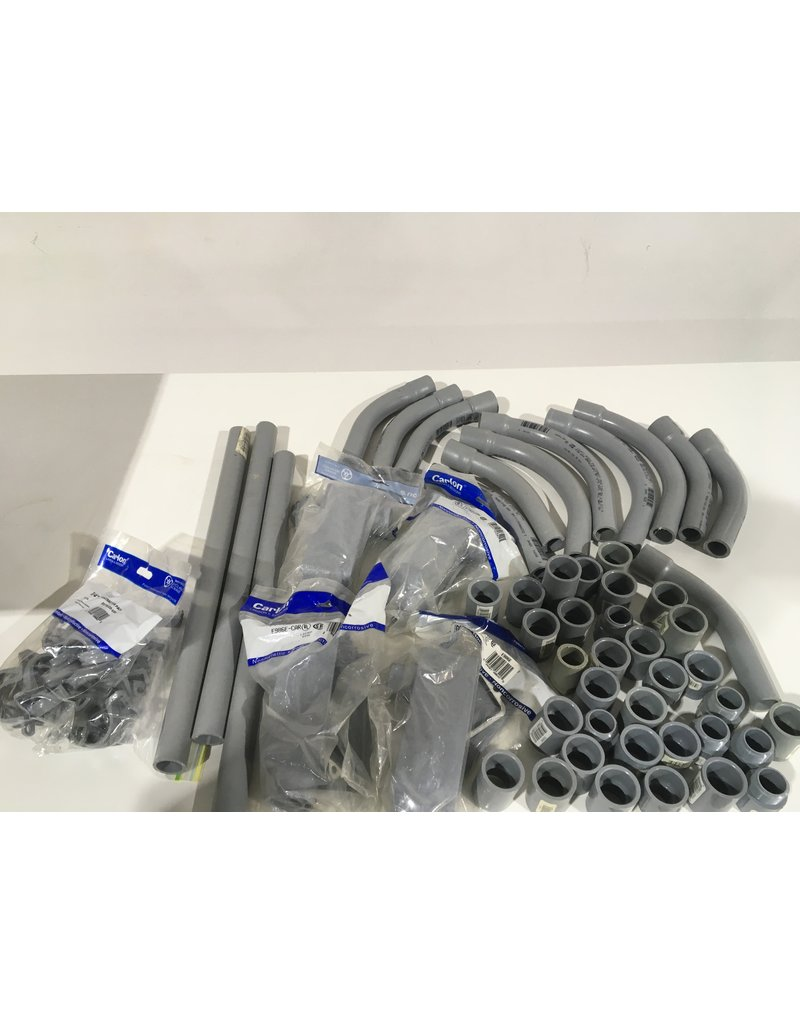 Etobicoke Box of Assorted 1/2-Inch PVC Conduit Fittings