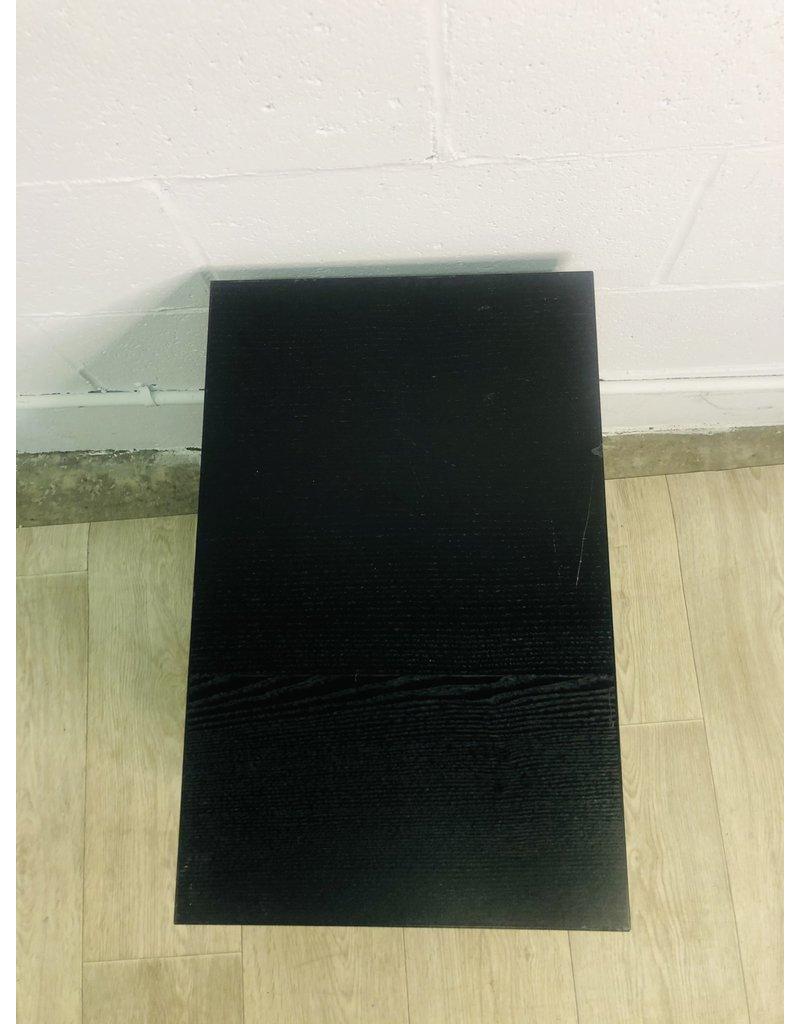 North York Black Wood Veneer Side Table