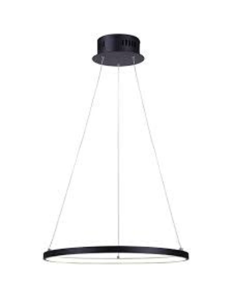 Brampton Black Matte Circular LED Light