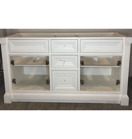 East York Open Concept Double Sink Vanity Base 62""
