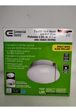 Markham West 7-inch LED Flush Mount Ceiling Light with Pull Chain