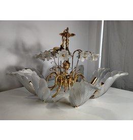 Markham West Golden Glass Chandelier