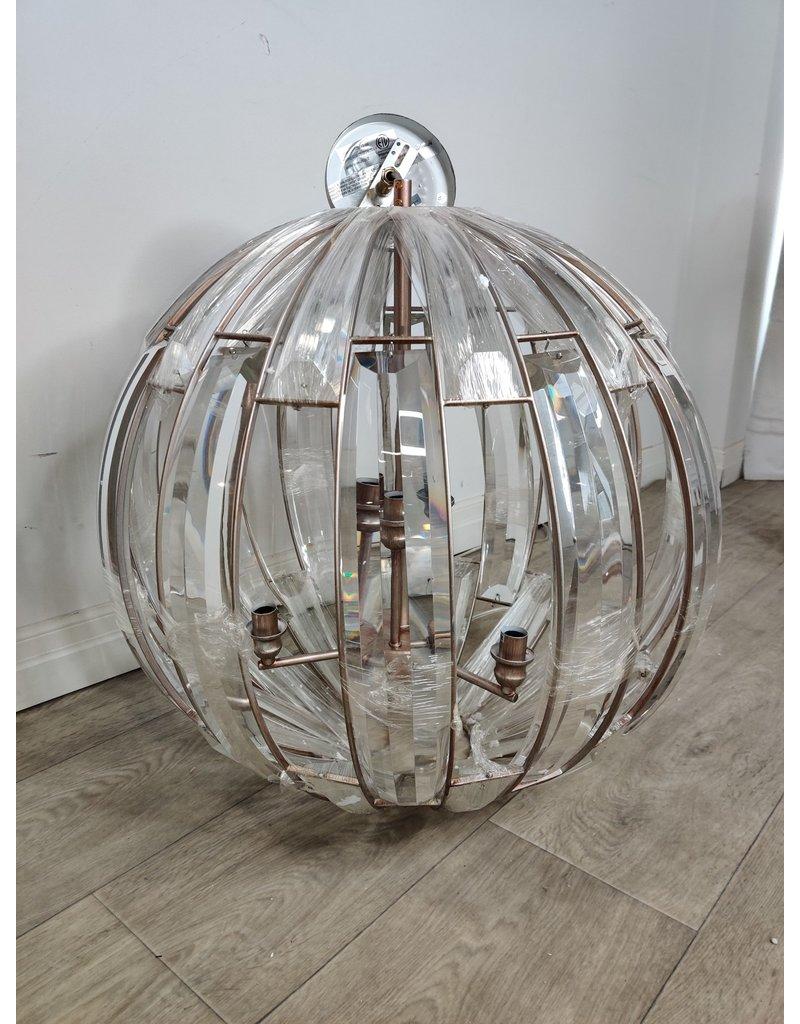 Markham West 6-Light Antique Forged Sliver Modern/Contemporary Chandelier