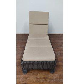 Woodbridge Wicker Outdoor Chaise Lounge Chair - Black