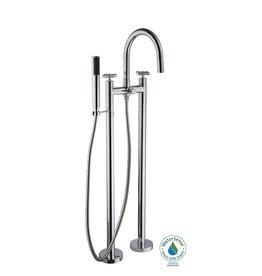 Brampton 2-Handle Floor Mount Tub Faucet