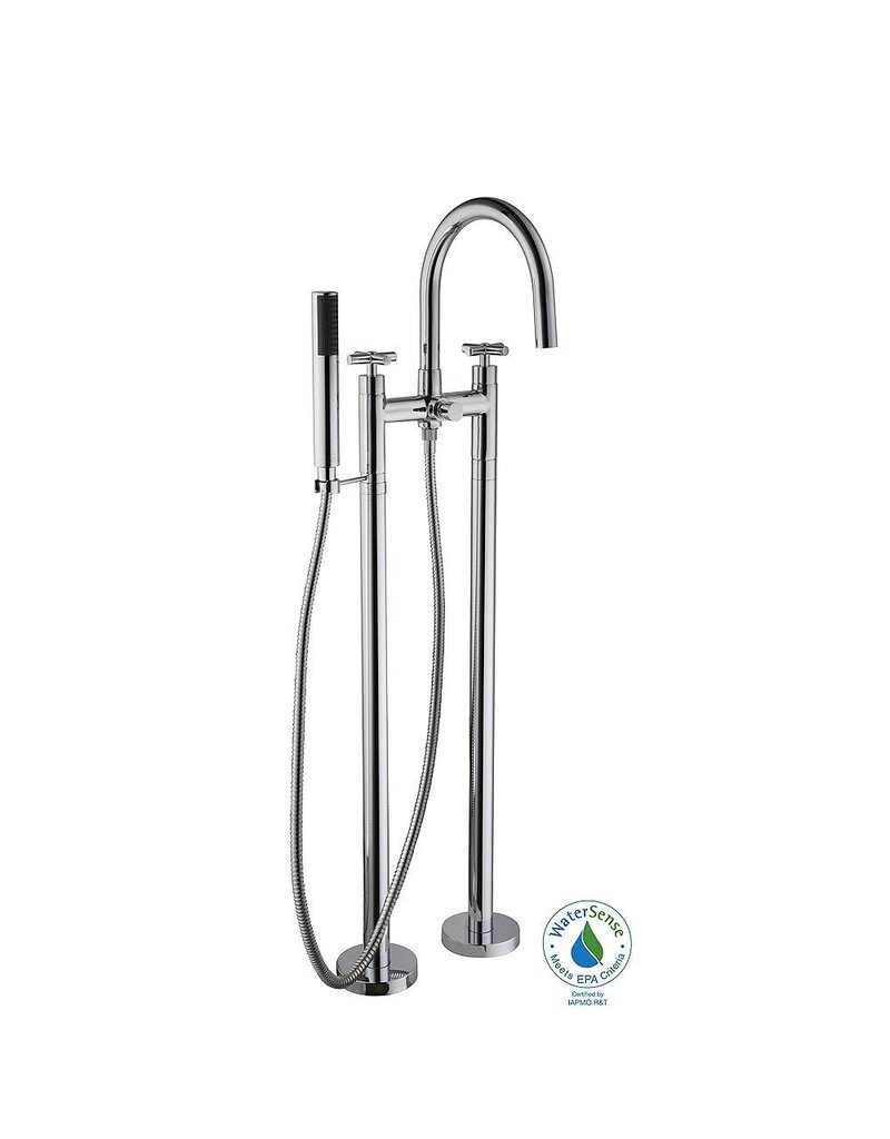 Brampton 2-Handle Floor Mount Tub Faucet