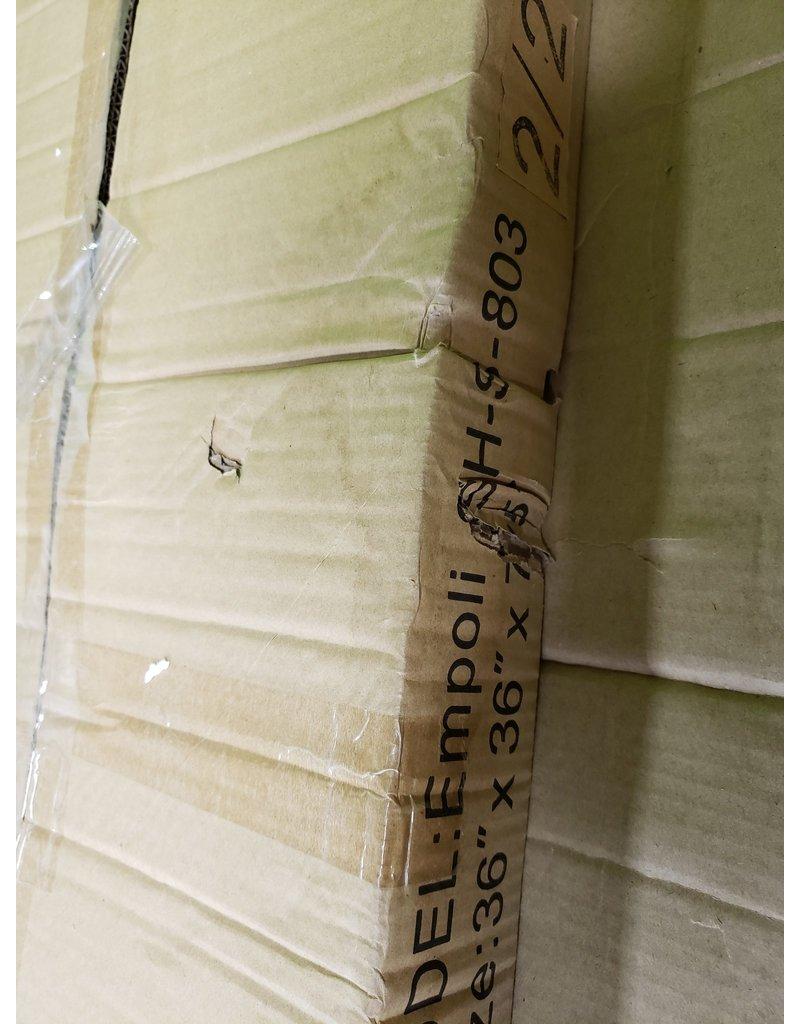 "Woodbridge 36"" x 36"" x 75""  Tempered Glass Corner Enclosure"