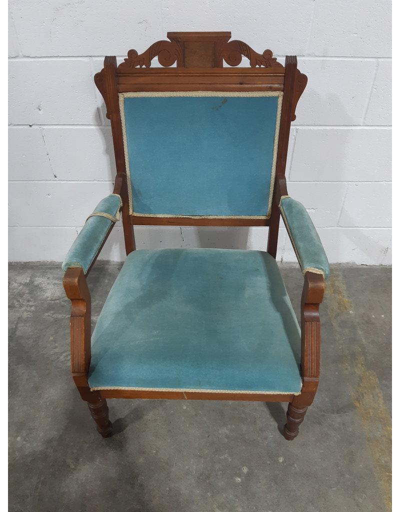 Etobicoke Antique Solid Wood Armchair
