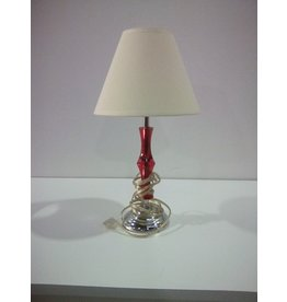 Etobicoke Red Colour Stem Desk Lamp with Shade