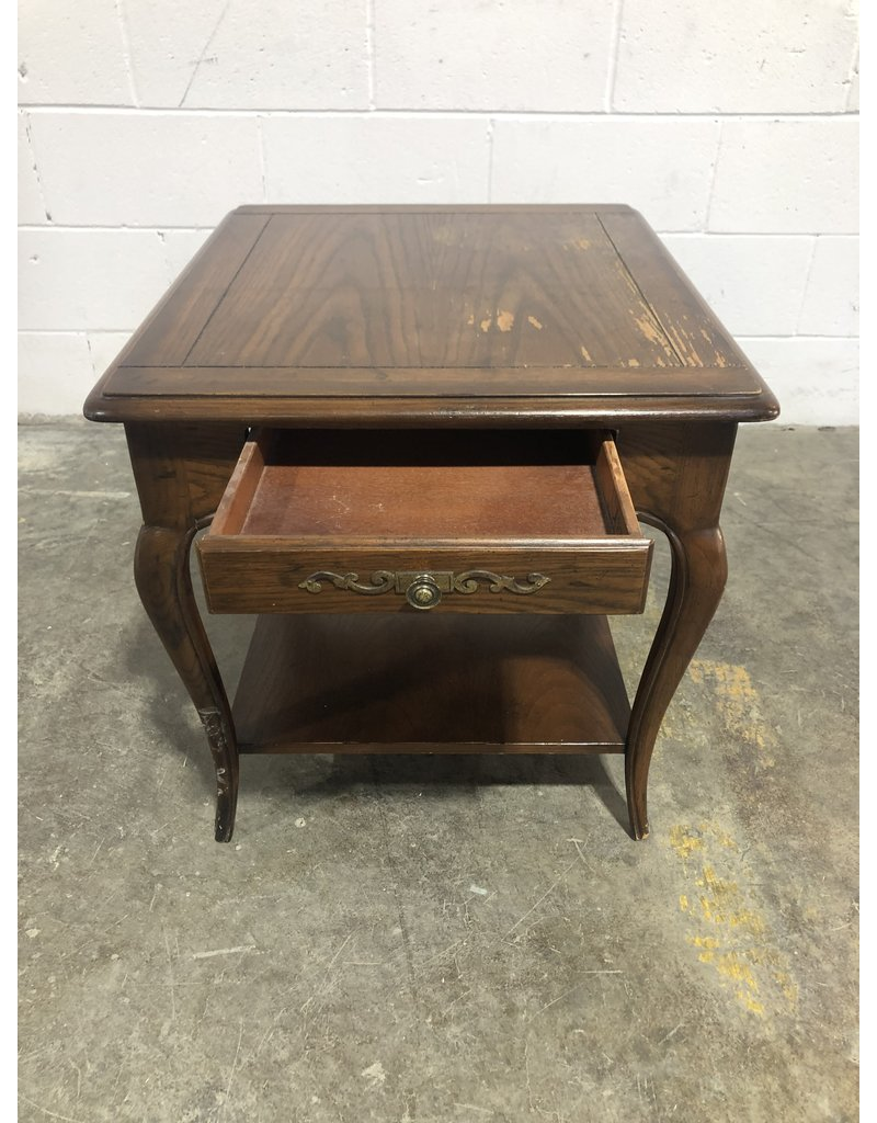 Etobicoke Brown Side Table with Drawer