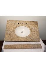 """Woodbridge 31"""" Granite Single Vanity Top with 4"""" backslash"""