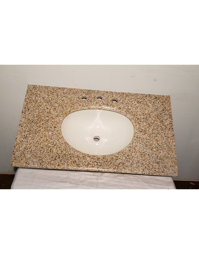 "Woodbridge 37"" Granite Vanity Counter Top and Sink"