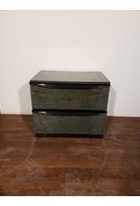 Woodbridge 2 Drawer Night Stand - Marbled Emerald Green