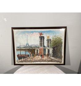Woodbridge Large Framed Paris Painting