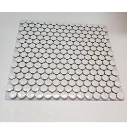 Woodbridge White Porcelain Mosaic Penny  Round Tile