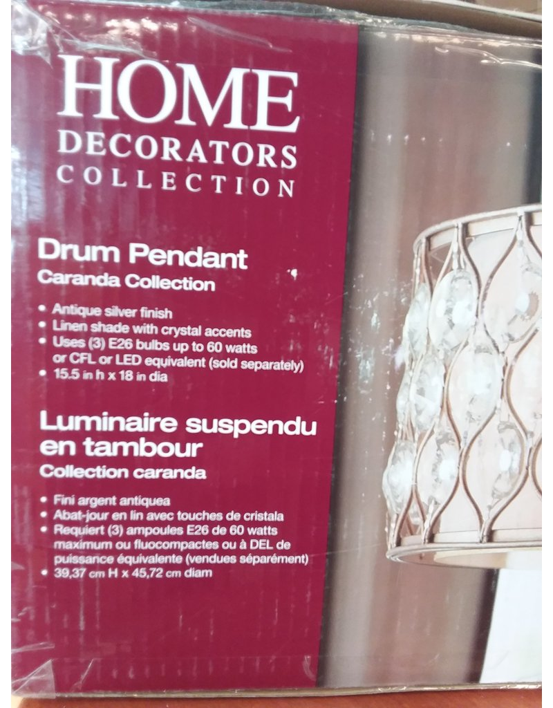 Vaughan Cara  Crystal Drum Pendant
