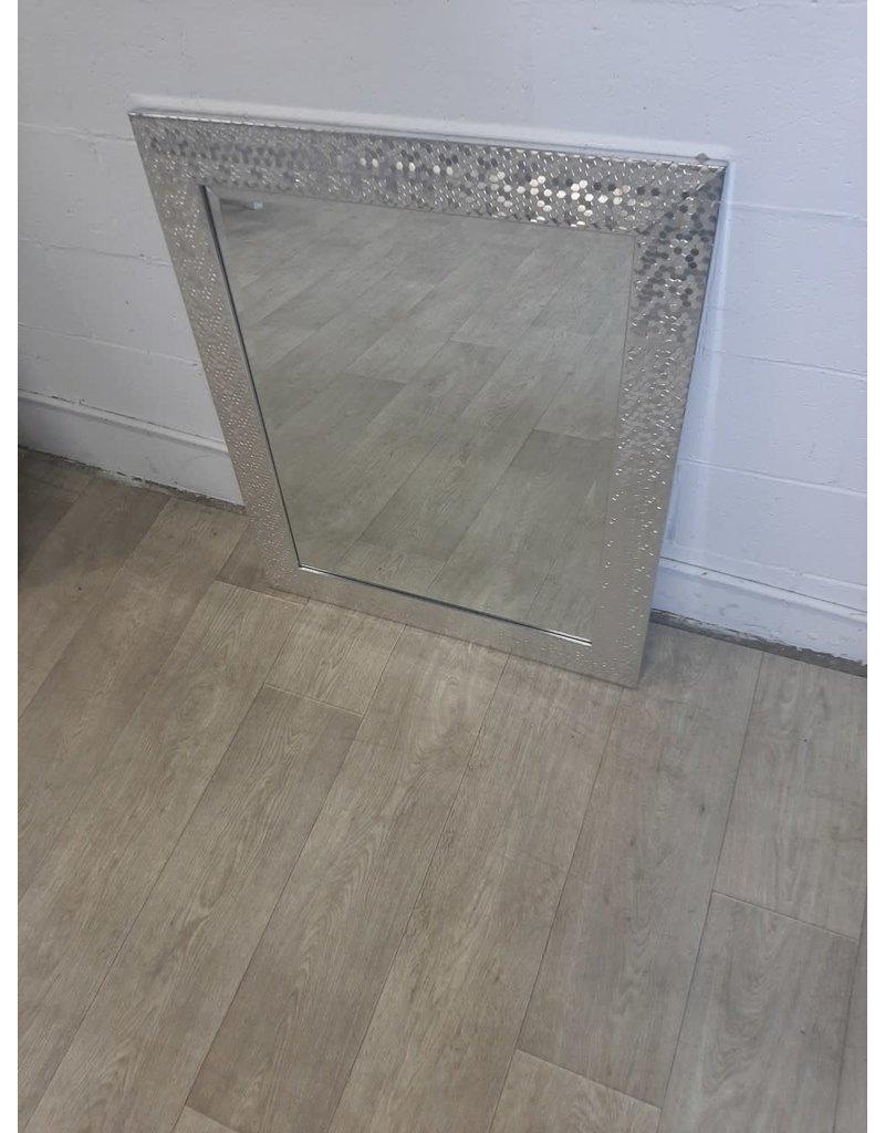 North York Beveled Chrome Mirror with Pentagon Motif