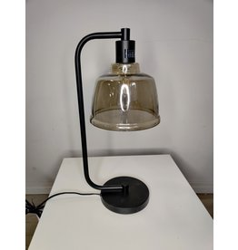Markham West Glass Shade Table Lamp