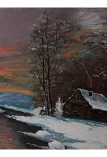 North York Cabin in the Woods Oil Painting