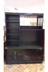 Vaughan Black Entertainment Wall Unit