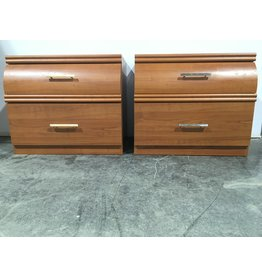 Etobicoke Retro 2-Drawer Side Table Set Of Two