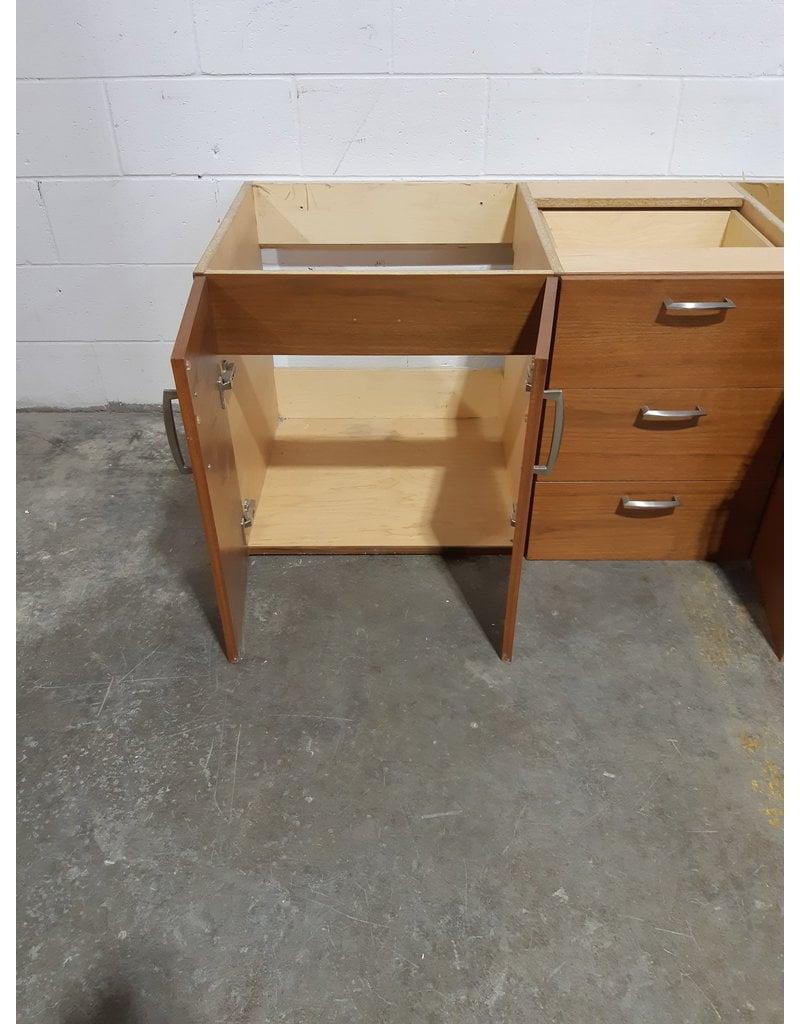 """Etobicoke 66"""" W  Wall Mounted Vanity Cabinet"""