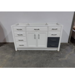 "Etobicoke 59""W  Bathroom Vanity Cabinet In White"