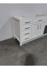"Etobicoke 59""W  Bathroom Vanity Cabinet In White"