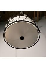 "Woodbridge 3-Light 15.75"" Bronze Drum and Crystals Pendant"
