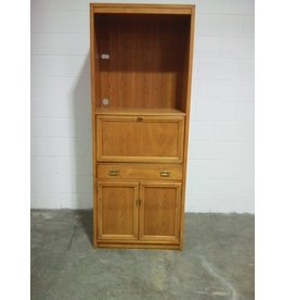 Etobicoke Wall Cabinet with Pulling Out Desk,  Drawers and Cupboard
