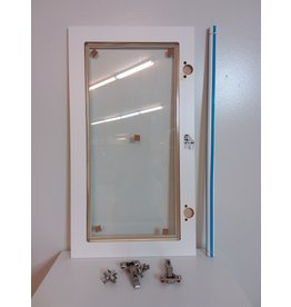 Vaughan Eurostyle Florence - Glass Door 17 inch x 30 inch - White matt thermofoil