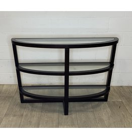 East York Glass Top Console Table