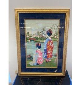 Etobicoke Needlepoint Japanese Girls in Kimonos