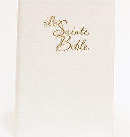 Louis Second Bible Louis second1910 Gros caractère blanc- doré - mariage