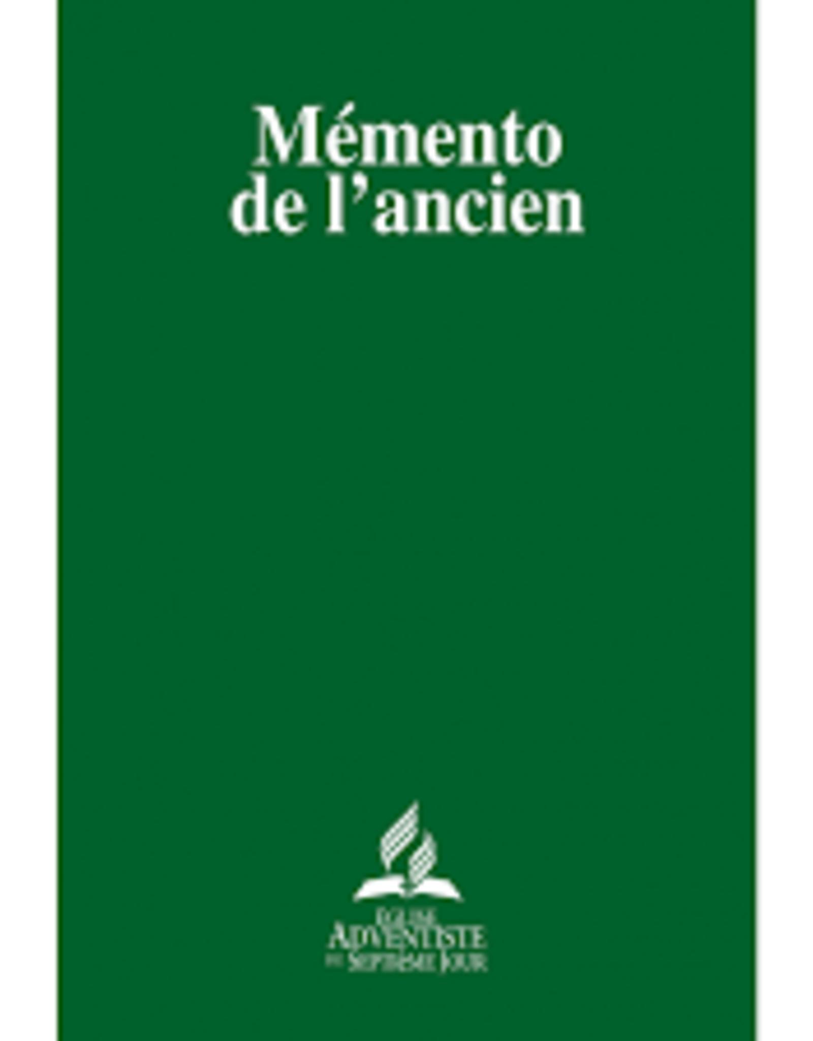Église Adventiste du 7ème Jour Mémento de l'ancien