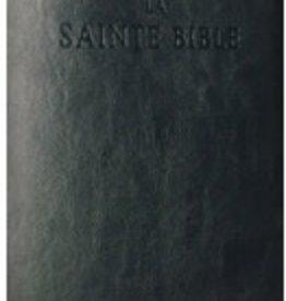 Louis Second La Sainte Bible dorée en cuir noir - avec matériel pastoral