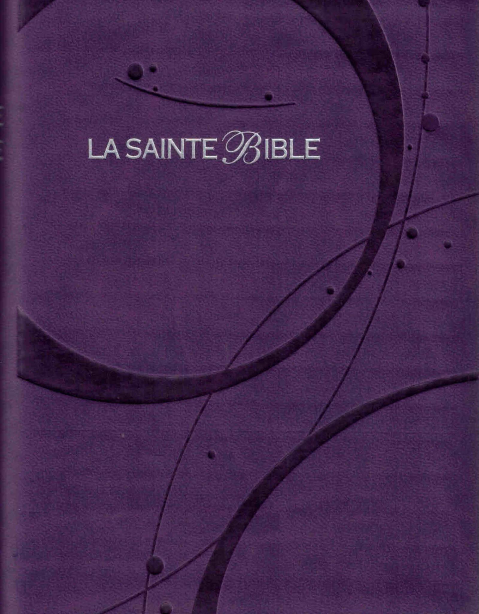 Bible Louis second 1910, petit caractère, violet
