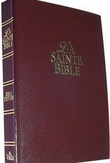 Louis Second La Sainte Bible (Bible d'étude - vida- rouge vin)