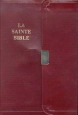 Louis Second La Sainte Bible (à pression, petit, bourgogne)