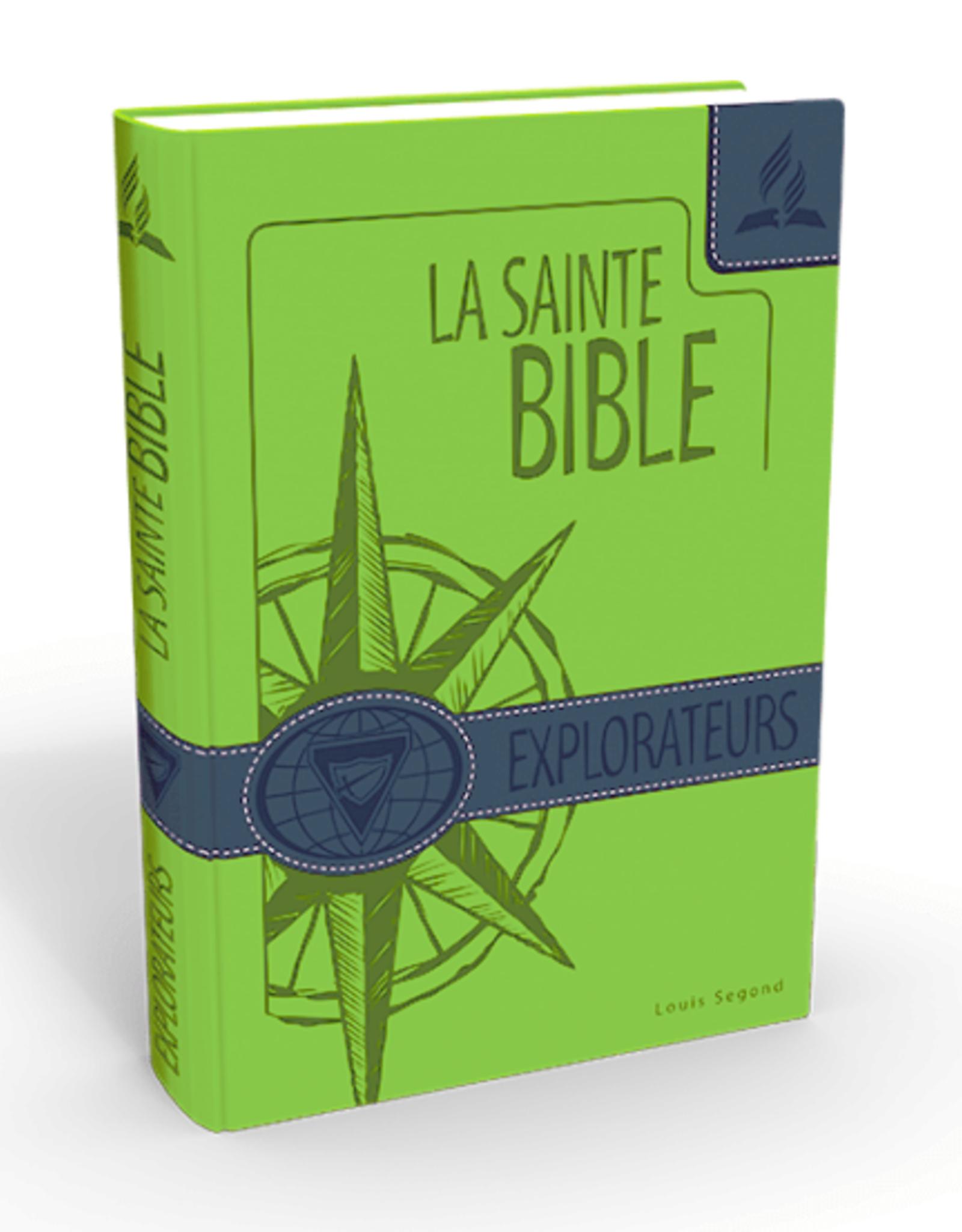 Louis Second La Sainte Bible - Explorateurs - couleur verte