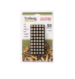 TopBrass .45 AP *PRIMED* RECONDITIONED BRASS