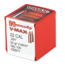 Hornady 22 CAL .224 55 GR V-MAX 100ct