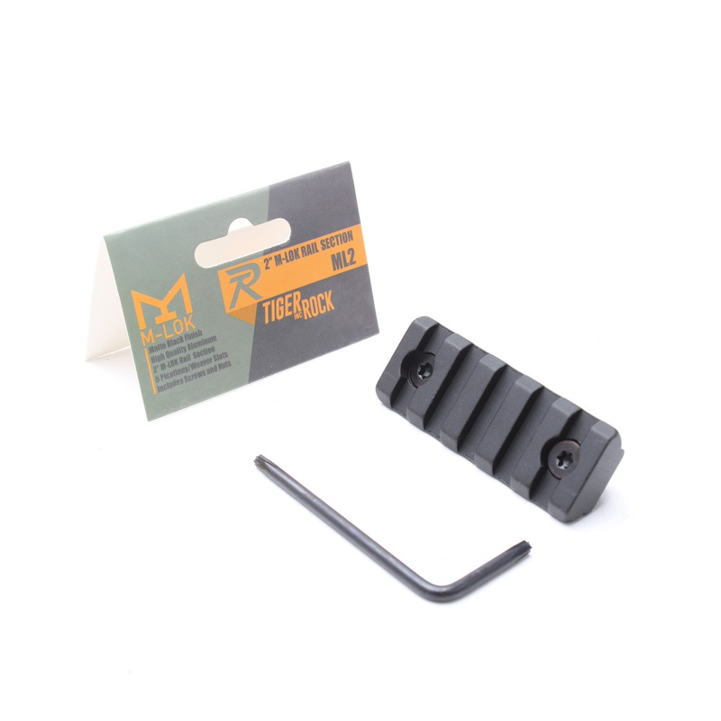 """Tiger Rock 2"""" M-LOK Rail Section (Package)"""