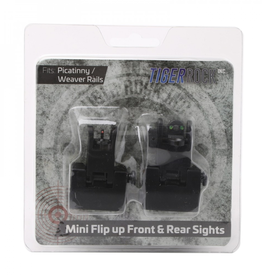 Tiger Rock Fiber Optics Flip Up Front & Rear Sights with Red and Green Dots - Packaged