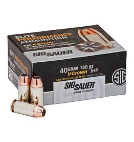 SIG SAUER SIG Sauer Elite Performance V-Crown Ammunition 20 Rounds .40 S&W 180 Grain V-Crown Jacketed Hollow Point Projectile 985fps