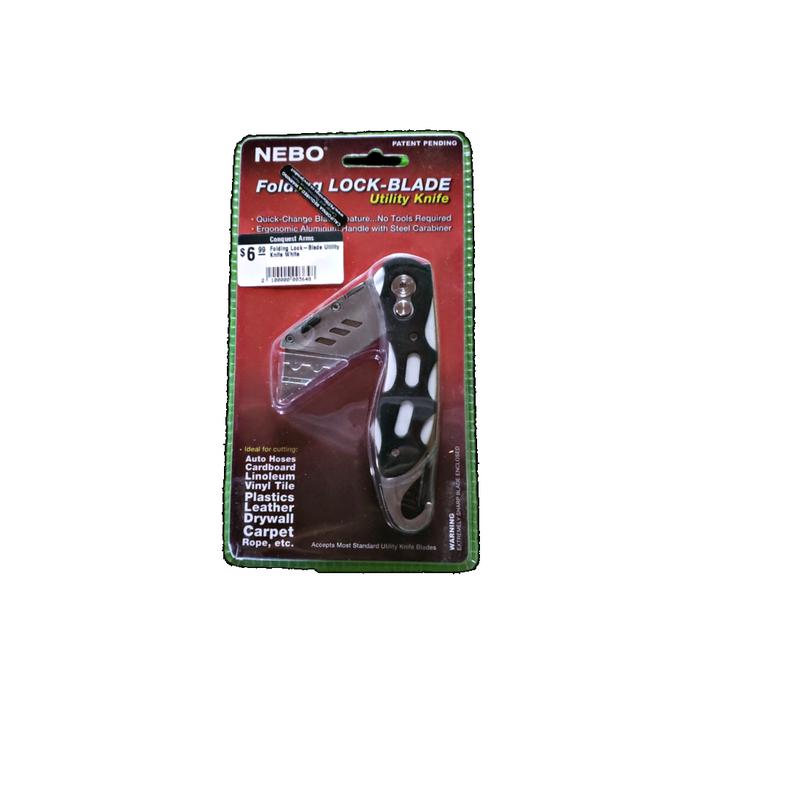 Nebo Folding Lock-Blade Utility Knife White
