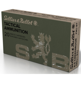 Sellier & Bellot Sellier & Bellot SB65A Rifle 6.5 Creedmoor 140 GR Full Metal Jacket Boat Tail (FMJBT) 20 Bx