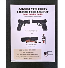 Arizona VFW Riders, Picacho Peak Chapter Raffle. $5.00 ticket or (5 tickets for $20)