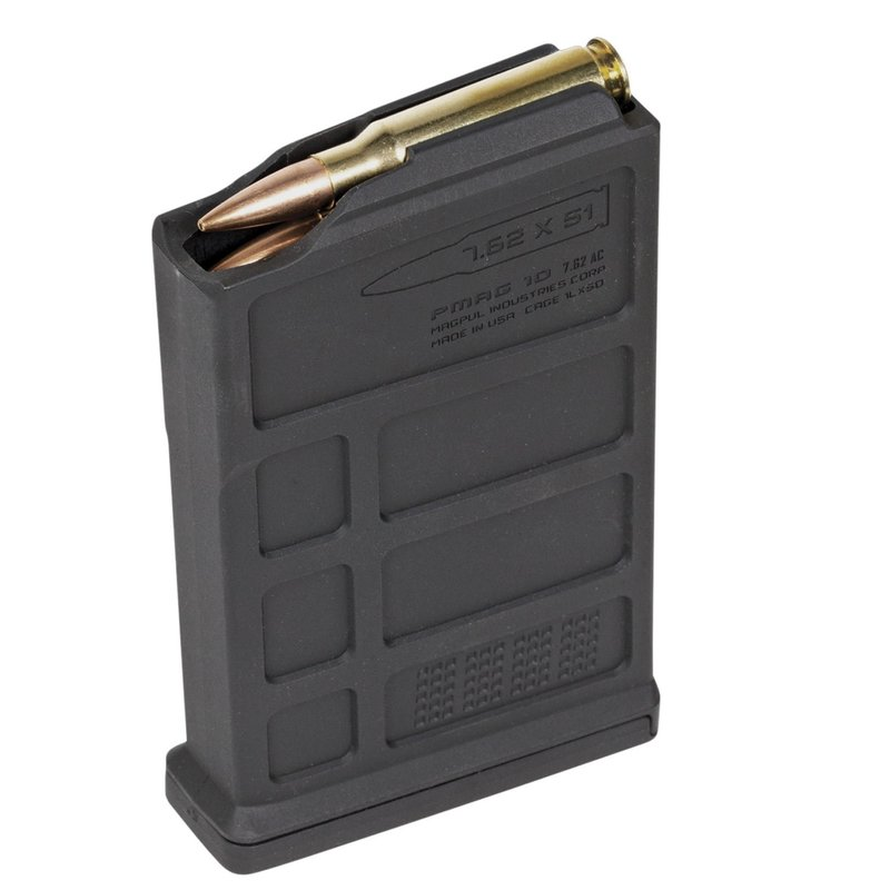 Magpul MAG579-BLK PMAG Bolt Action 7.62x51/308Win/7mm-08 Rem/6.5mm Crdmr/260 Rem/243 Win 10rd Detachable